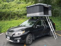 Fitting an elevated roof rack??? (Roof Top Tent Issue
