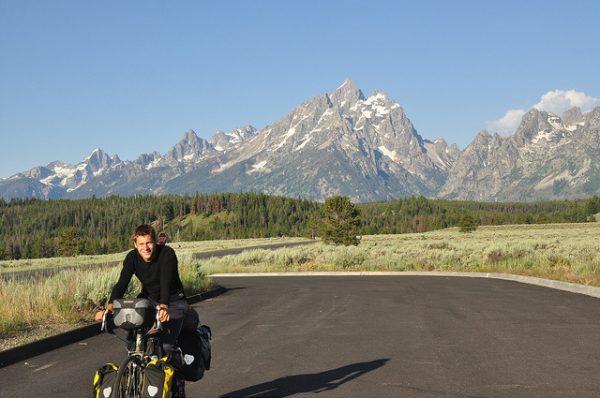 Biking the Transamerica Trail in Grand Teton National Park