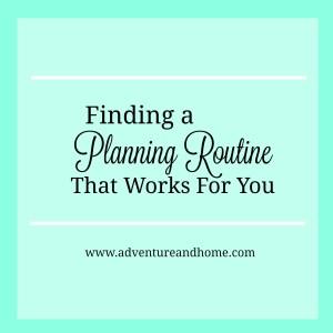 planning routine
