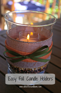 fall candle feature