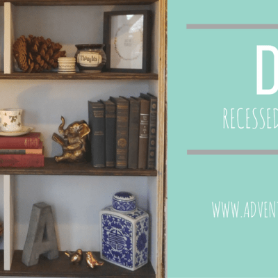 How To Build a Recessed Bookshelf (The Easy Way)