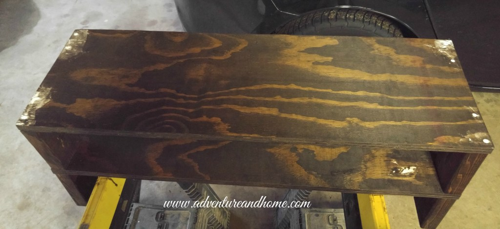 That moment when you're literally tripping over your small home problems. That means it's time for a project! Learn how I fixed one of our problems with some scrap wood, stain, and paint! Pin to read now or save for when you need it later!