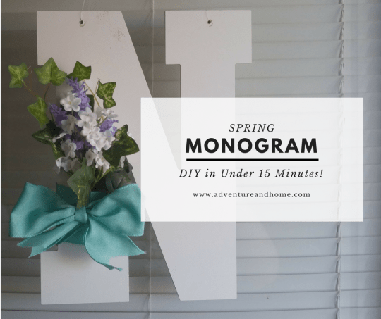 Make this quick and easy spring monogram in less than 15 minutes! Pin to save for later or try out now! ;-)