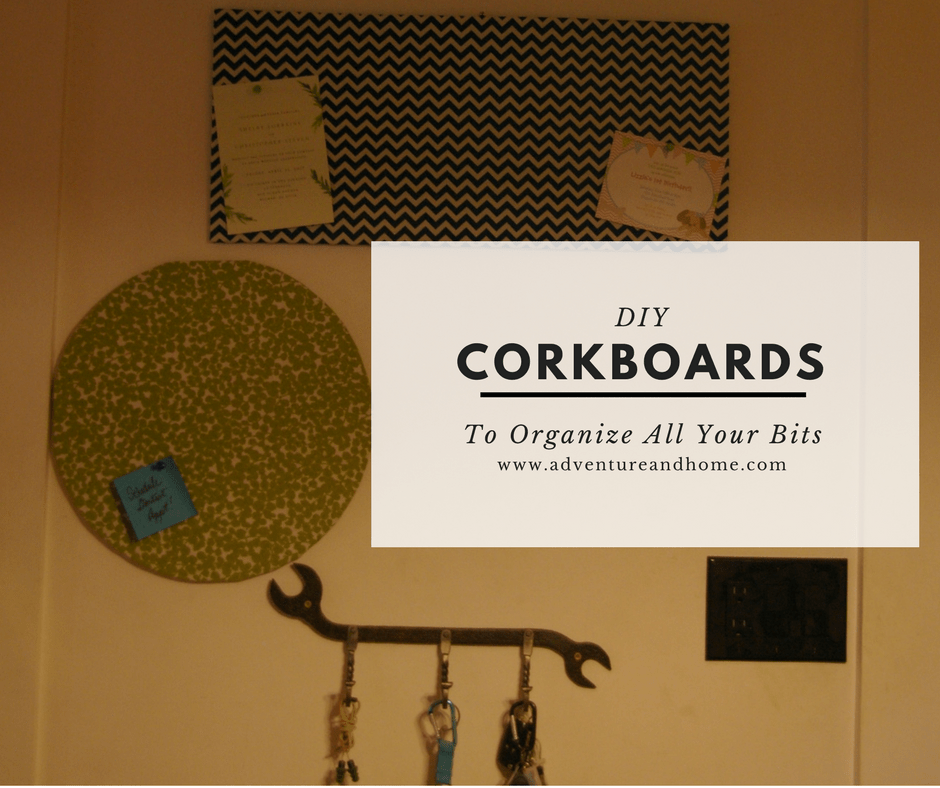 Pretty DIY Corkboards that any beginner can make with some basic tools and endless imagination. Organize all your nudgy little bits! Create any shape you want and customize with scrap fabric you love! PIn to make now or save this project for later!