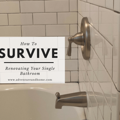 How To Easily Survive Renovating Your Single Bathroom