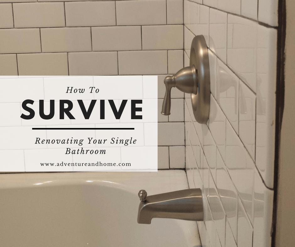 15 Tips To Get You Through Your Single Bathroom Renovation Without Booking  A Hotel! Save
