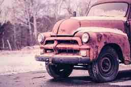 Sepia rusty truck