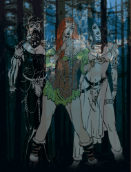 Zombie Handmaidens with illusion in place