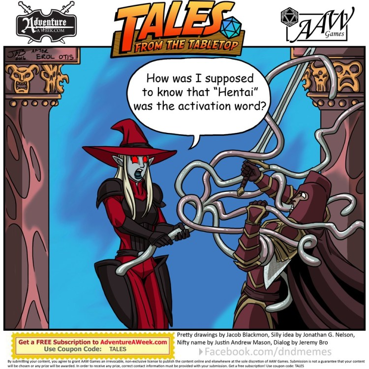 Caption for Tales from the Tabletop #54.