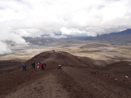 Looking down the volcano