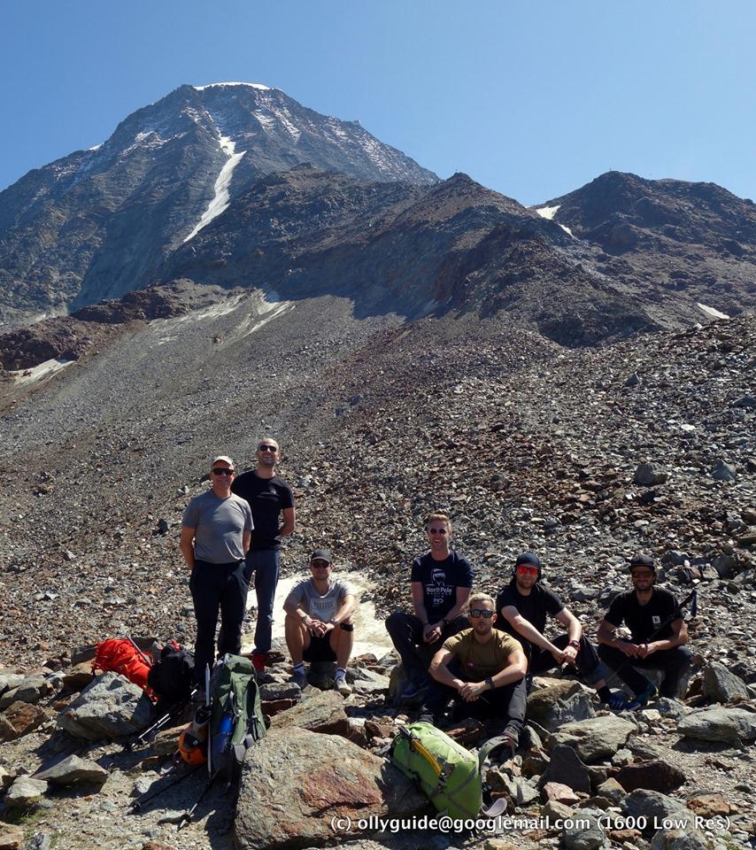 Climb Mont Blanc - hike to Tete Rousse hut