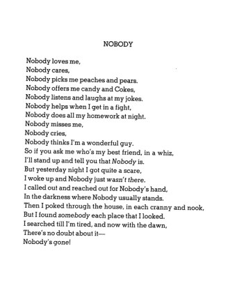 nobody poem