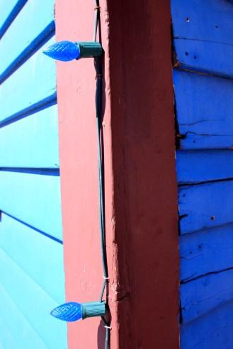blue lights wall