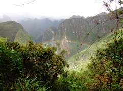 On our exit from the moutain-above the rainbows!