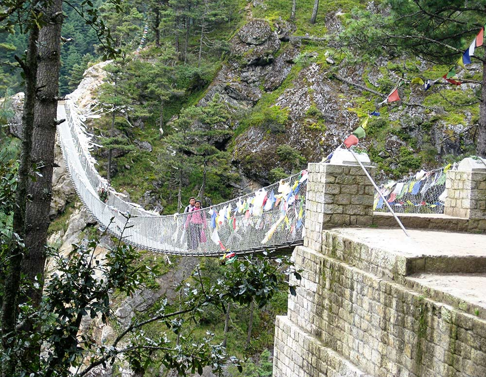 Suspension Bridges along the Everest Base Camp Trek