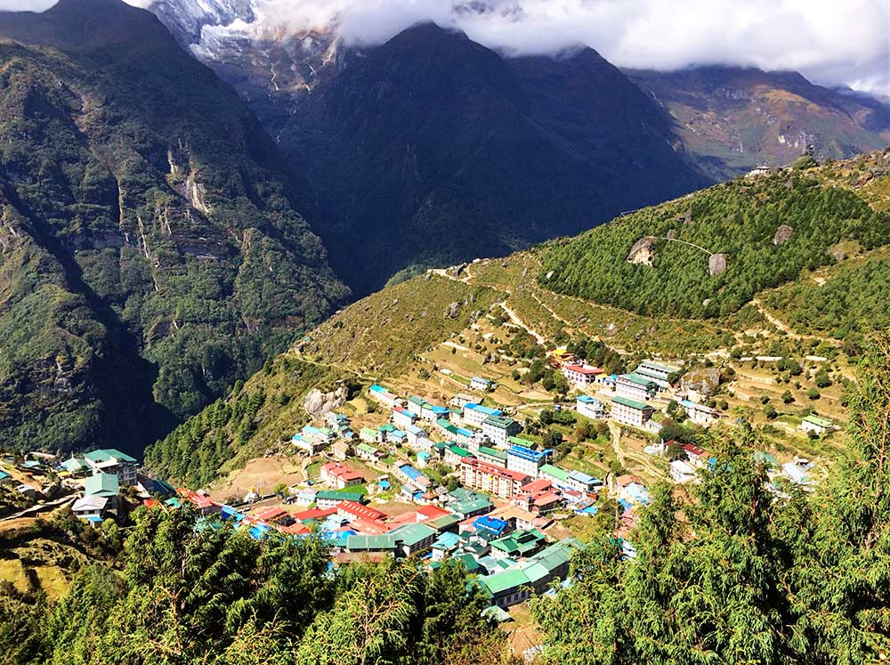 12-VieView from above Namche Bazaarw from above Namche Bazaar