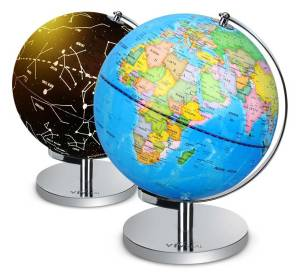 2 for 1 World Globe that Illuminates Constellations