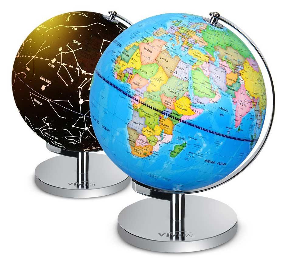 2 for 1 World Globe that Illuminates Constellations