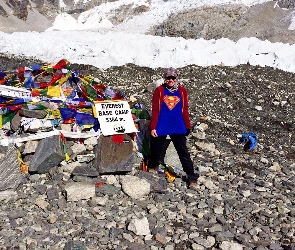 MJ - Everest Base Camp - Made it!