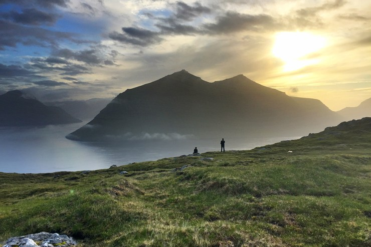 Faroe Islands Sunset Silhouette View