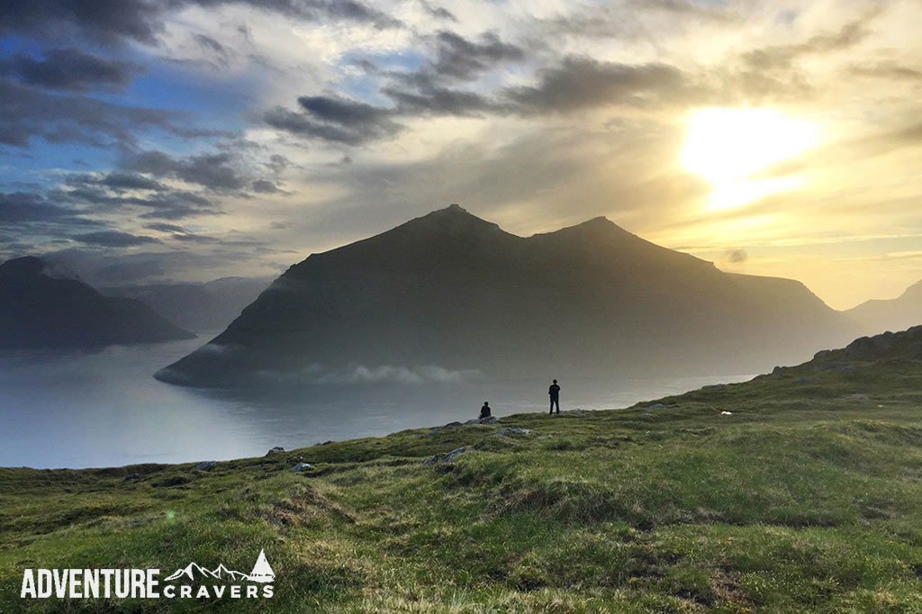 Faroe Islands Sunset Silhouette