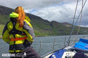 Admiring the Faroe Islands from sea