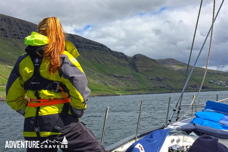 Admiring the Faroe Islands from sea