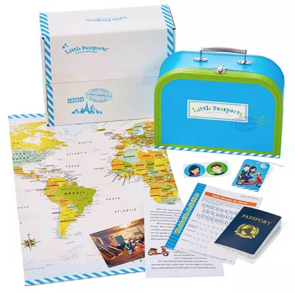 Gift Ideas for Kids - Little Passports Monthly Subscription Box - World Edition