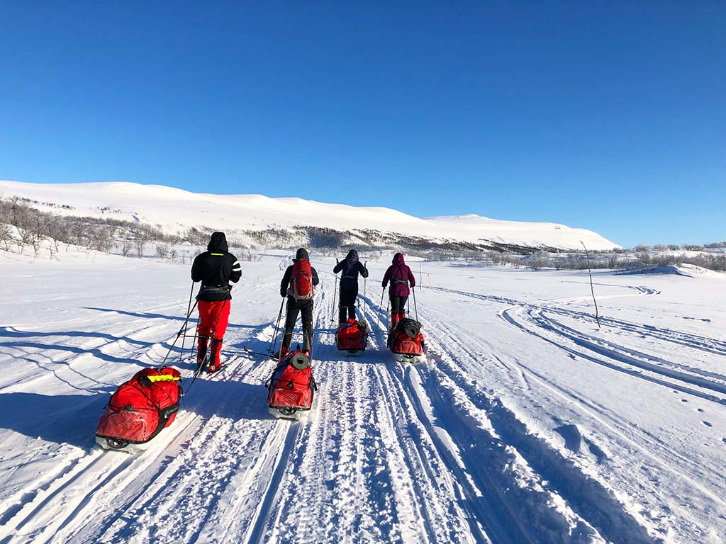 The view of cross-country skiing in Norway