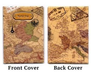 Travel Buddy Gift Idea - World Map Passport Cover