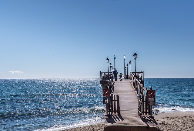 Marbella white sands and salty sea air.