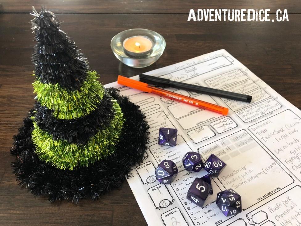 Dark Nexus polyhedral dice set
