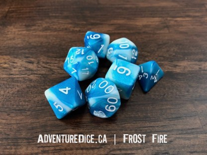 Frost Fire RPG dice