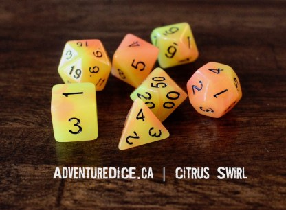 Citrus Swirl dice set