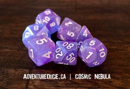 Cosmic Nebula RPG dice