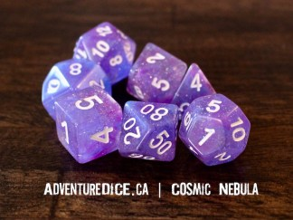 Cosmic Nebula RPG dice