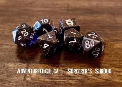 Sorcerer's Shroud RPG dice