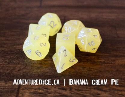 Banana Cream Pie RPG dice