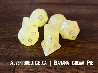 Banana Cream Pie RPG dice