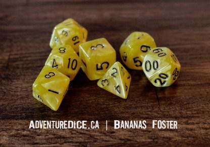 Bananas Foster RPG dice
