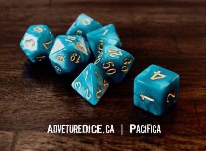 Pacifica RPG dice set