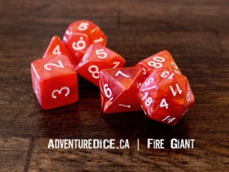 Fire Giant RPG dice set