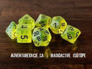 Radioactive Isotope RPG dice