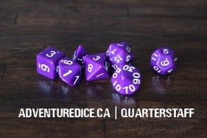 Quarterstaff dice set