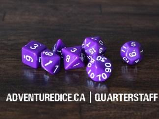 Quarterstaff dice set