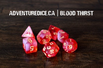 Blood Thirst dice set