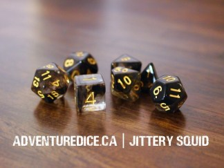 Jittery Squid dice set
