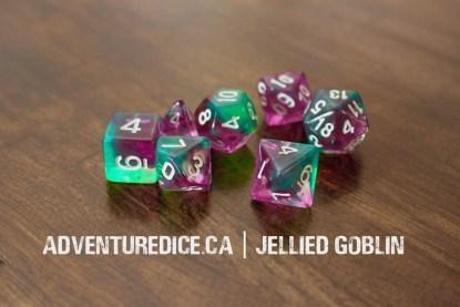 Jellied Goblin dice set