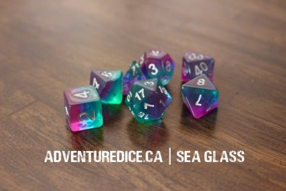 Sea Glass dice set