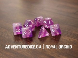 Royal Orchid dice set